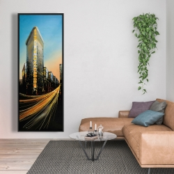 Framed 20 x 60 - Flatiron building in light