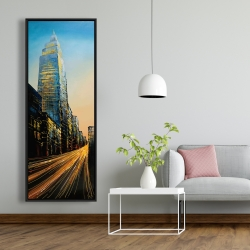 Framed 20 x 60 - In the street of empire state building