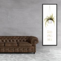 Framed 20 x 60 - Good vibes only