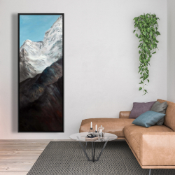 Framed 20 x 60 - Emblematic himalayan peaks