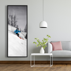 Framed 20 x 60 - Man skiing in mountain