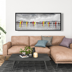 Framed 20 x 60 - Sailing on the lake