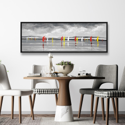 Framed 20 x 60 - Sailboats on the lake
