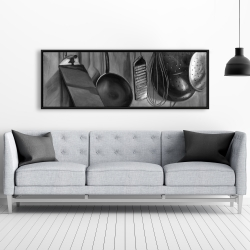 Framed 20 x 60 - Kitchen tools for chef