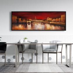 Framed 20 x 60 - Paris by red dawn