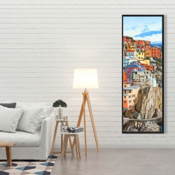 Framed 20 x 60 - View of manarola in italy