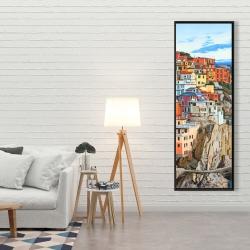 Framed 20 x 60 - View of manarola in italy