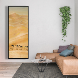 Framed 20 x 60 - Walking in the desert