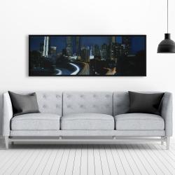 Framed 20 x 60 - Atlanta at night