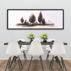 Framed 20 x 60 - Landscape of trees