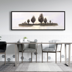Framed 20 x 60 - Abstract landscape of trees