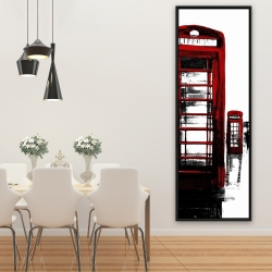Framed 20 x 60 - Telephone box and big ben of london