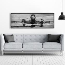 Framed 20 x 60 - Grayscale plane