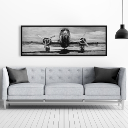 Framed 20 x 60 - Grayscale plane