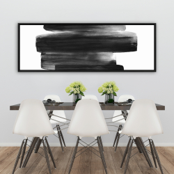 Framed 20 x 60 - Watercolor abstract stripes
