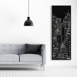 Framed 20 x 60 - Illustrative city towers