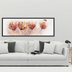 Framed 20 x 60 - Four little flowers