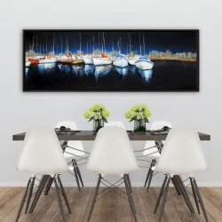 Framed 20 x 60 - Evening at the marina