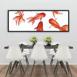 Framed 20 x 60 - Red fishes