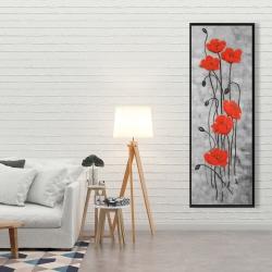 Framed 20 x 60 - Long stem flowers