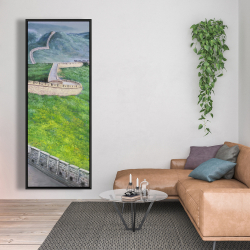 Framed 20 x 60 - Great wall of china