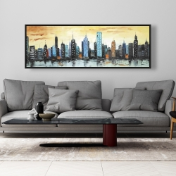 Framed 20 x 60 - Skyline on cityscape