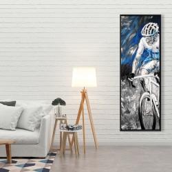 Framed 20 x 60 - Professional blue cyclist