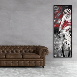 Framed 20 x 60 - Professional red cyclist