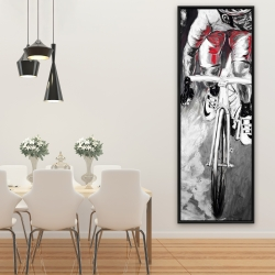 Framed 20 x 60 - Red cyclist