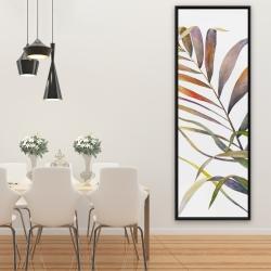 Encadré 20 x 60 - Feuilles de palmiers tropicaux à l'aquarelle