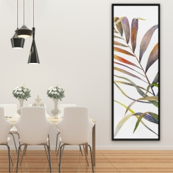 Framed 20 x 60 - Watercolor tropical palm leaves