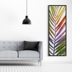 Encadré 20 x 60 - Feuille de palmier tropical