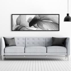 Framed 20 x 60 - Monochrome two betta