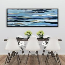 Framed 20 x 60 - Blue sweep