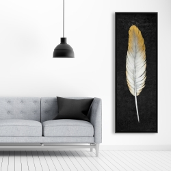 Framed 20 x 60 - Golden feather