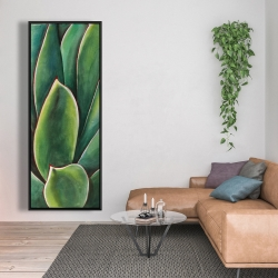 Framed 20 x 60 - Watercolor agave plant