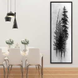 Framed 20 x 60 - Silhouette of trees