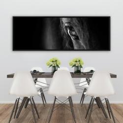 Framed 20 x 60 - Black horse