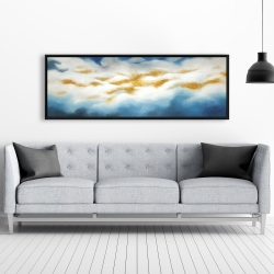 Framed 20 x 60 - Abstract clouds