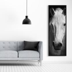 Framed 20 x 60 - Monochrome horse
