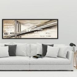 Framed 20 x 60 - City brige