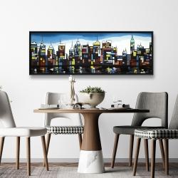 Framed 20 x 60 - Colorful skyline