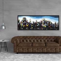 Framed 20 x 60 - Colorful city