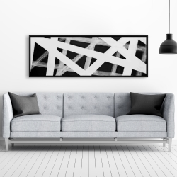 Framed 20 x 60 - Geometric stripes