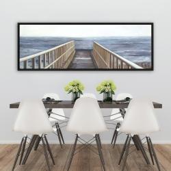 Framed 20 x 60 - Relaxing beach