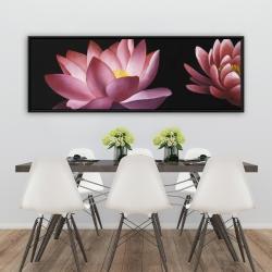 Framed 20 x 60 - Lotus flower pattern
