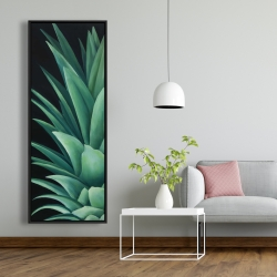 Framed 20 x 60 - Pineapple leaves