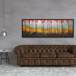 Framed 20 x 60 - Abstract landscape
