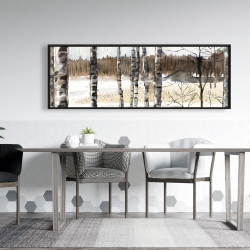 Framed 20 x 60 - Winter swamp