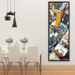 Framed 20 x 60 - High top view of buildings in new york